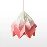 Moth origami lampshade gradient coral