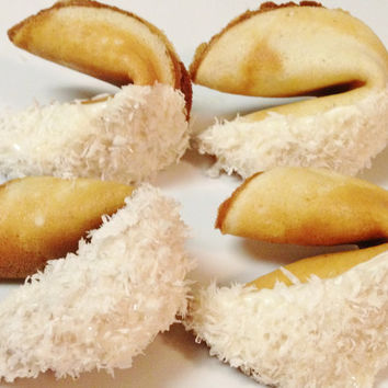 COCONUT CREME fortune cookies, delicious, personalized, and beautiful