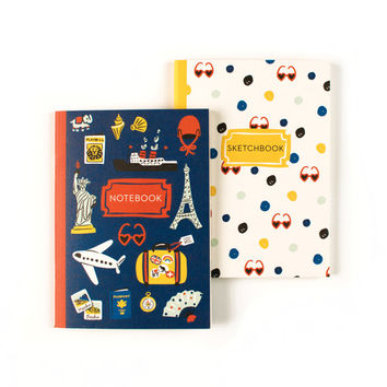 Wanderlust Duo Books | Travel Insipired Notebook & Sketchbook Set