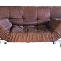 The College Cozy Sofa Mini-Futon Chocolate Dorm Furniture Cheap Dorm Stuff Items Seating Futons College