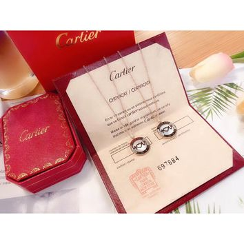 [Limited Time Specials] Ladies Cartier Love Shell Series Necklace Titanium Steel Plate Counter Packaging