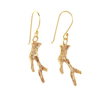 Coral Branch Dangle Earrings - Featured in Life & Style Weekly!