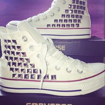 Custom Converse Studded High Tops - Chuck Taylors - ALL SIZES & COLORS available!
