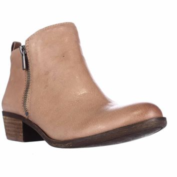 Lucky Brand Basel Side Zip Ankle Boots, Wheat, 10 US