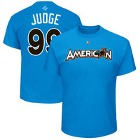 Aaron Judge American League Majestic 2017 MLB All-Star Game Name & Number T-Shirt - Blue