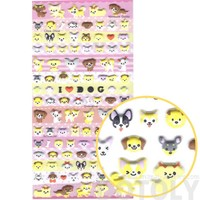Small Puppy Dog Face Shaped Animal Puffy Sticker Seals for Scrapbooking and Decorating