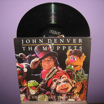 HALLOWEEN SALE Vinyl Record Album John Denver and The Muppets - A Christmas Together Lp 1979 Holiday Jim Henson Children's Classic