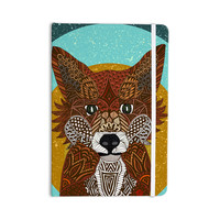 "Art Love Passion ""Colored Fox"" Blue Orange Everything Notebook"