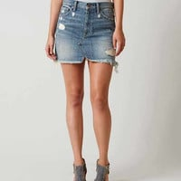 LUCKY BRAND OLD FASHIONED DENIM MINI SKIRT