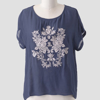 Roadside Garden Embroidered Top