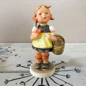 Goebel Hummel Figurine SisterFull Bee TMK 2 Mark Vintage Hummel Collectible Hummel 1950s Hummel  Hummel Girl with Basket 86