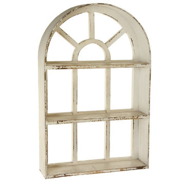 Ivy Cottage Wooden Window Shelf - 29-in White