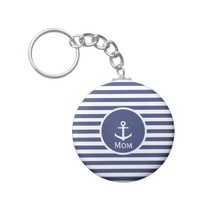 Nautical Mom Keychain