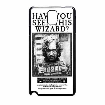 Sirius Black Wanted Poster Samsung Galaxy NOTE 3 Case