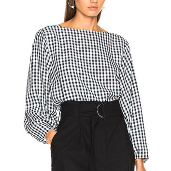 Tibi Boatneck Top in Black Multi | FWRD
