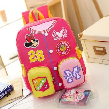 New Children School Bag Cartoon Mickey cartoon Backpack Baby Kids cute Shoulder Kindergarten Schoolbag