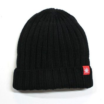 STONERDAYS KNIT BEANIE BLACK