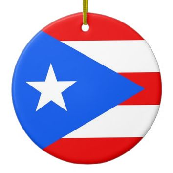 Ornament with flag of Puerto Rico