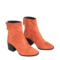 GIONA Orange Square Toe Boot