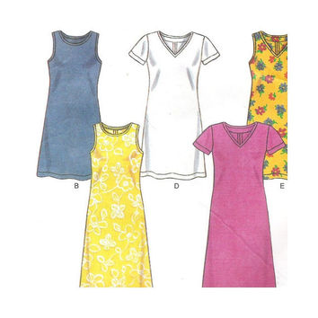 Uncut New Look  Simplicity Pattern 6750 Misses 2 Hour Knit  Dress Size 8-18