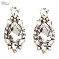 Trend fashion full crystal earring vintage statement high quality stud Earrings for women
