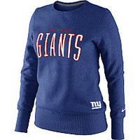 NIKE Women's New York Giants Tailgater Fleece Crew Sweatshirt