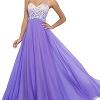 Women's Prom Dresses A Line One Shoulder Chiffon and Tulle Formal Dress