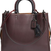COACH 1941 Embellished Handle Rogue Leather Satchel | Nordstrom