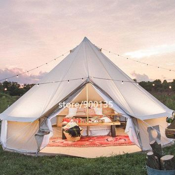 "Waterproof Cotton Canvas Bell ""Glamping Tent"" / Sun Shelter"