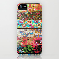 Paisley Planks iPhone & iPod Case by Joke Vermeer