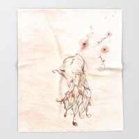 The little Kitty Throw Blanket by LouJah | Society6