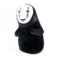"HiRudolph 11""Cute Cosplay SPIRITED AWAY Faceless Black No Face Gost Plush Anime Stuffed Toy Doll Black, 11inches"