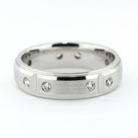 Men's Diamond Wedding Band - Robert