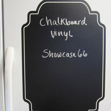 Framed Chalkboard  - Vinyl Wall Art - FREE Shipping - Fun Organizing Blackboard Wall Decal