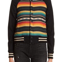 MOTHER | Multi-Colored Striped Snap Button Jacket | HauteLook