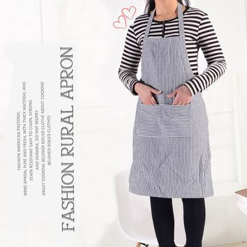 2016 New Arrival High Quality Striped Skirt Waiter Kitchen Chef Cooking Apron Coffee 3 Colors Brief