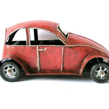 Vintage Volkswagen Car, AntiqueToy, Collectibles