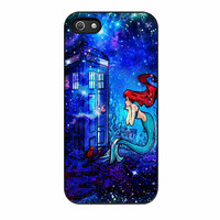 Doctor Who Meets Disney Tardis Ariel Little Mermaid Galaxy Nebula iPhone 5s Case