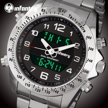 Mens Watches Luxury Tactical Military Watch Analog Digital Watch