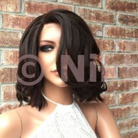 "Kansas 10"" Bob  Human Hair Blend Multi Parting lace front wig"