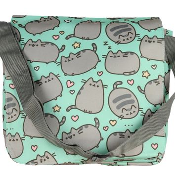 Pusheen Cat All Over Print Cross Body Messenger Bag