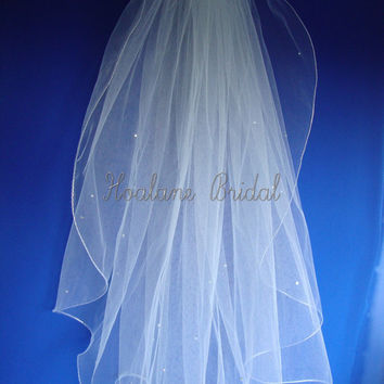 VEIL, Bridal veil, wedding veil, short veil, Veil with rhinestones