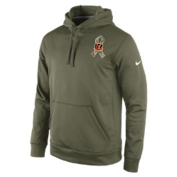 Nike Salute to Service KO Pullover (NFL Bengals) Men's Training Hoodie Size Medium (Green)