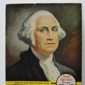 Vintage George Washington Picture Jigsaw Puzzle 1960s