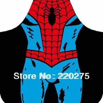 Promotion Free Shipping Party Product Funny kids  Apron  Costume Apron Cooking  Party Apron batman superman ironman spiderman