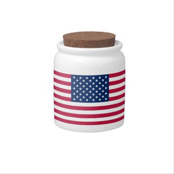 USA Flag Candy Jar