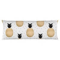 Gold Pineapple Body Pillow