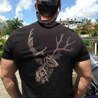 All Antlers Short Sleeve Tee with Pocket