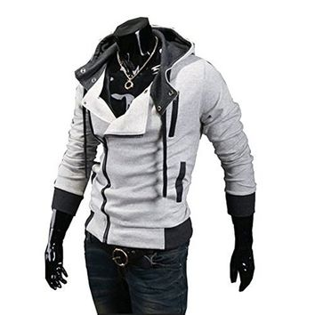 db590f8c Mooncolour Mens Novelty Color Block Hoodies Cozy Sport Autumn Outwear