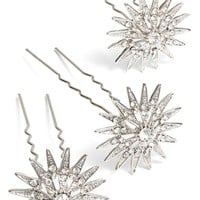 Nina 'Antique Star' Mini Hair Pins (Set of 3)